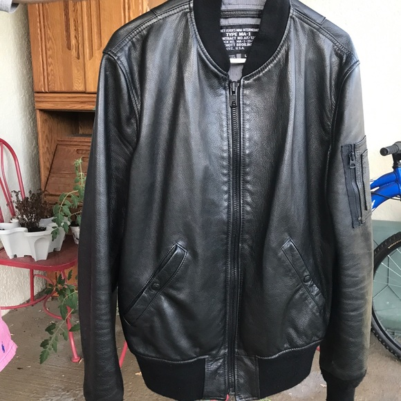 1cd017500 Schott Brothers Leather Type MA-1 Bomber Jacket